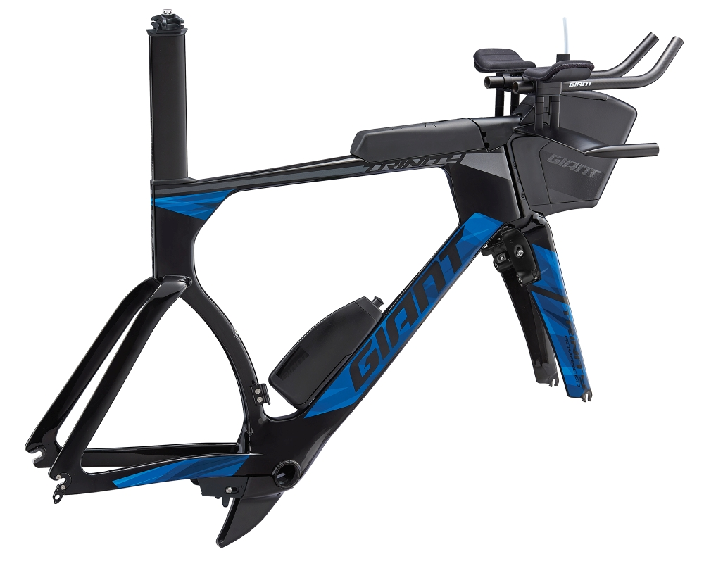 GIANT Trinity Advanced Pro Triathlon Rahmenkit L Carbonblack-Blue - Fahrradhaus Haske
