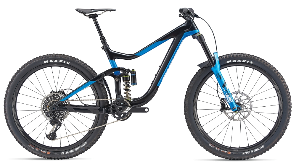 GIANT Reign Advanced 0 L Carbonblack-Metallicblue - GIANT Reign Advanced 0 L Carbonblack-Metallicblue