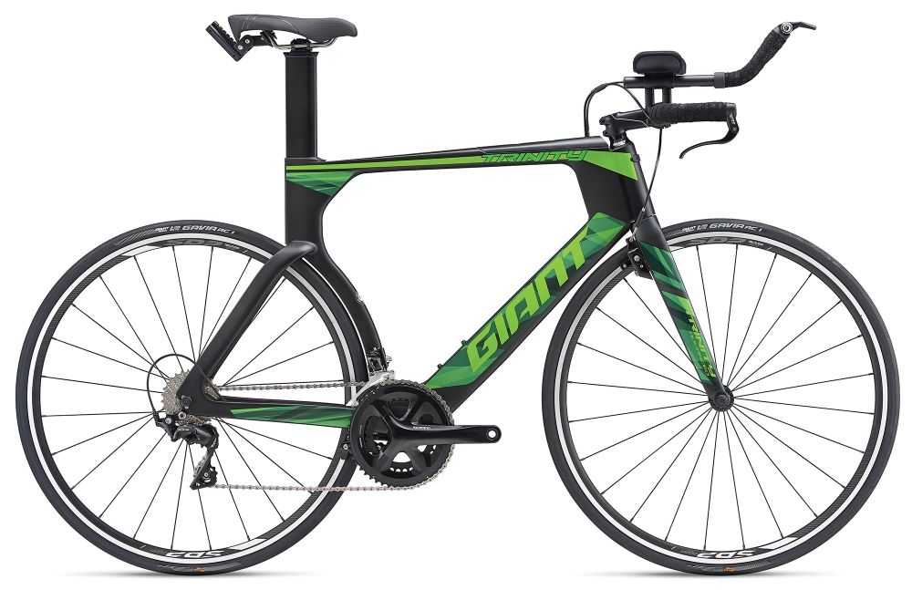 GIANT Trinity Advanced S Carbonblack-Green Matt - GIANT Trinity Advanced S Carbonblack-Green Matt