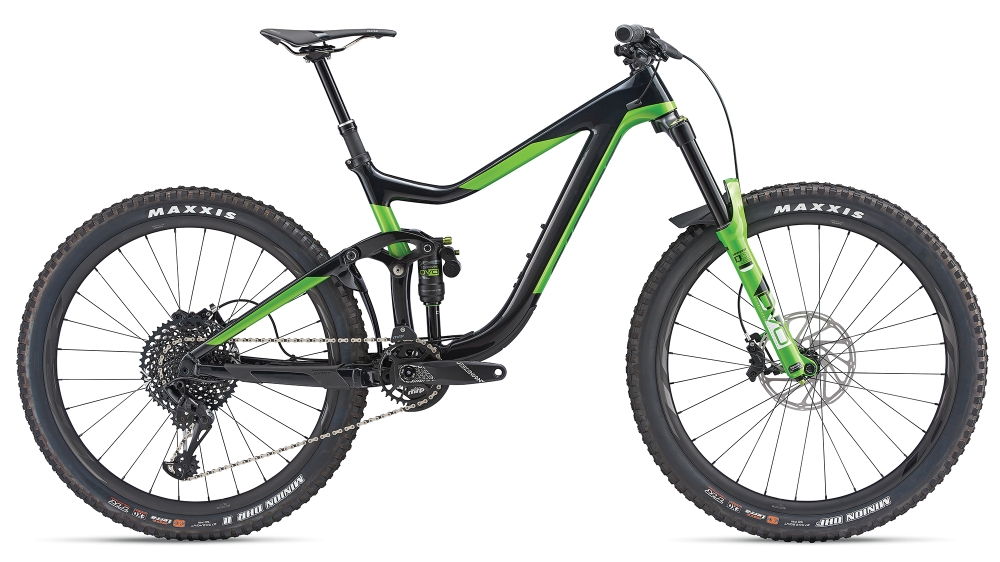GIANT Reign Advanced 1 M Carbonblack-Metallicgreen - GIANT Reign Advanced 1 M Carbonblack-Metallicgreen