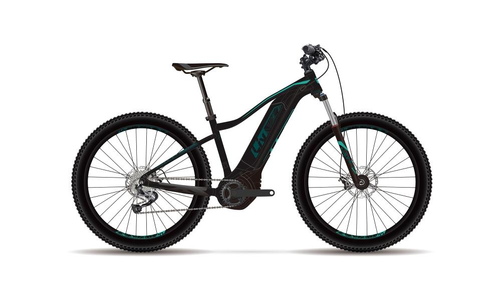 Liv Vall-E+ 2 XS Black-Tealgreen - Bike Maniac