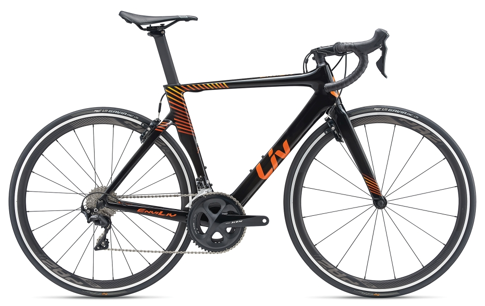 Liv EnviLiv Advanced XS Carbonblack-Orange-Yellow - Bike Maniac