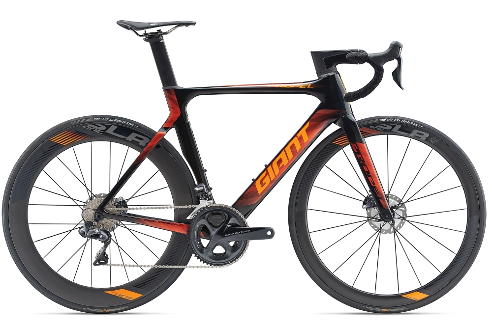 GIANT Propel Advanced Pro Disc S Carbonblack-Orange - Fahrradhaus Haske