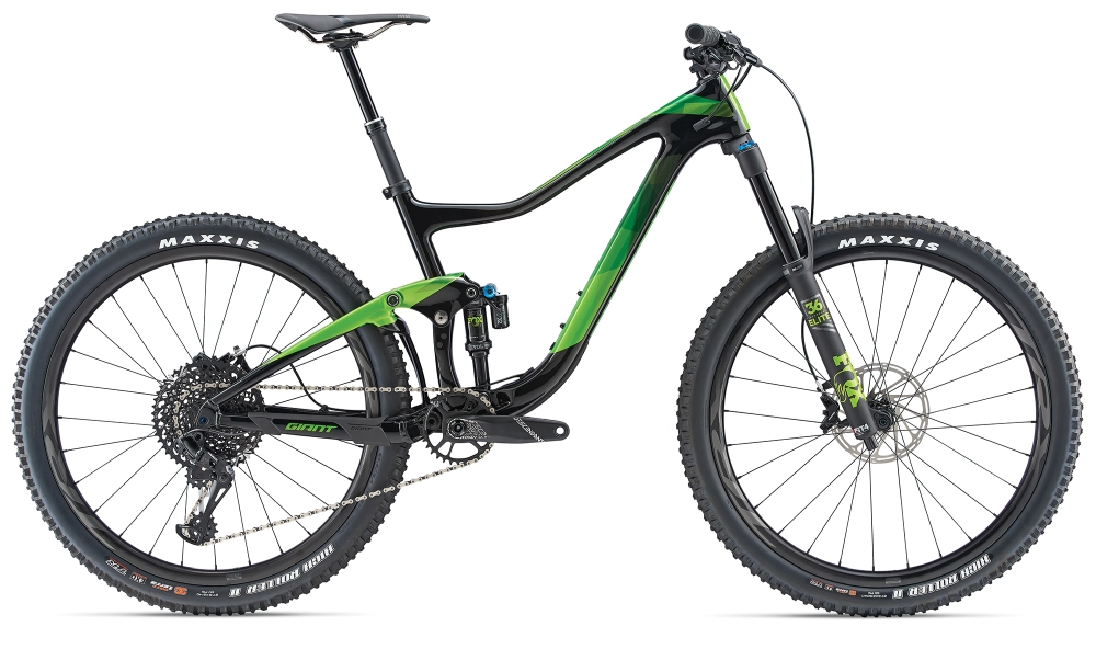 GIANT Trance Advanced L Carbonblack-Metallicgreen - Fahrradhaus Haske