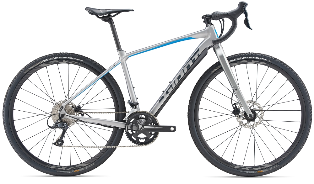 GIANT ToughRoad SLR GX 2 XL BrushAluminium-Blue-Grey Matt - Fahrradhaus Haske