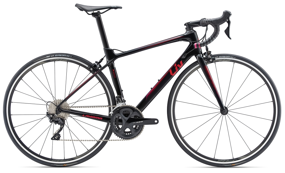 Liv Langma Advanced 2 S Black-Red - Fahrradhaus Haske