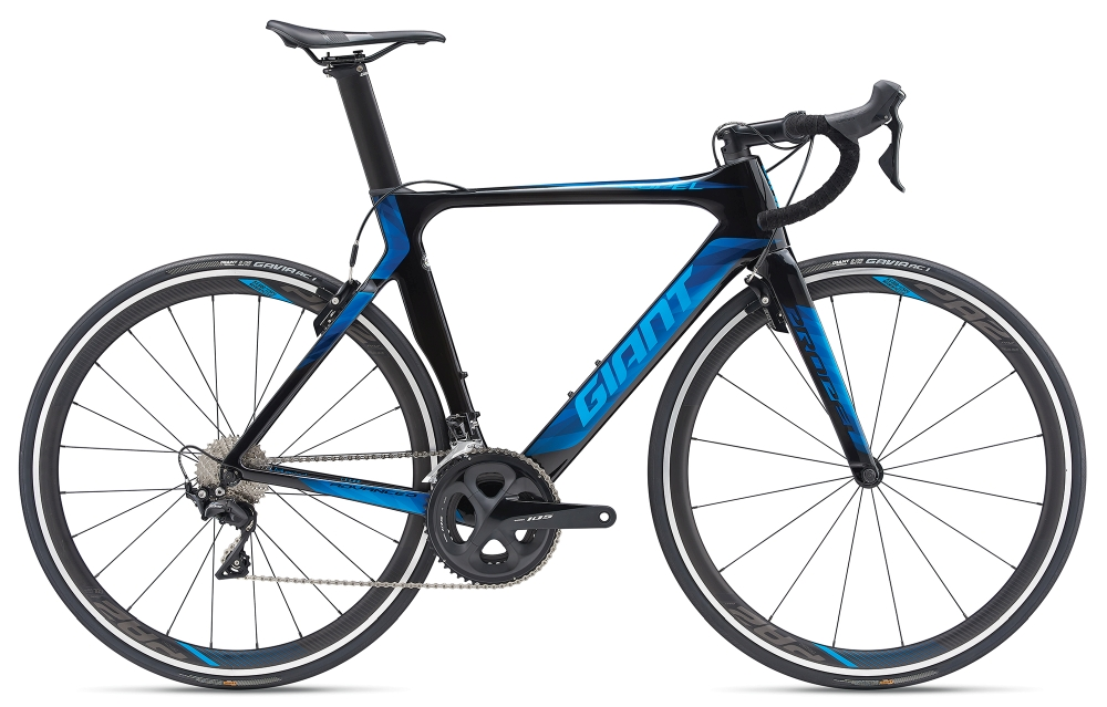 GIANT Propel Advanced 2 L Carbonblack-Vibrantblue - GIANT Propel Advanced 2 L Carbonblack-Vibrantblue