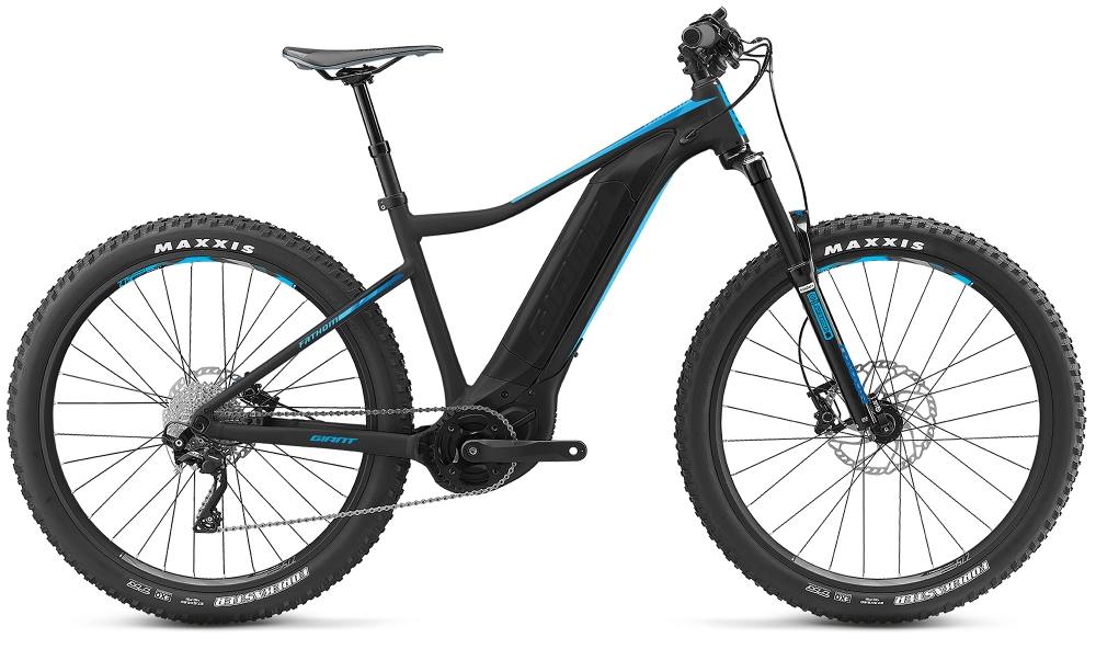 GIANT Fathom E+ 2 S Black-Blue Matt - Bike Maniac