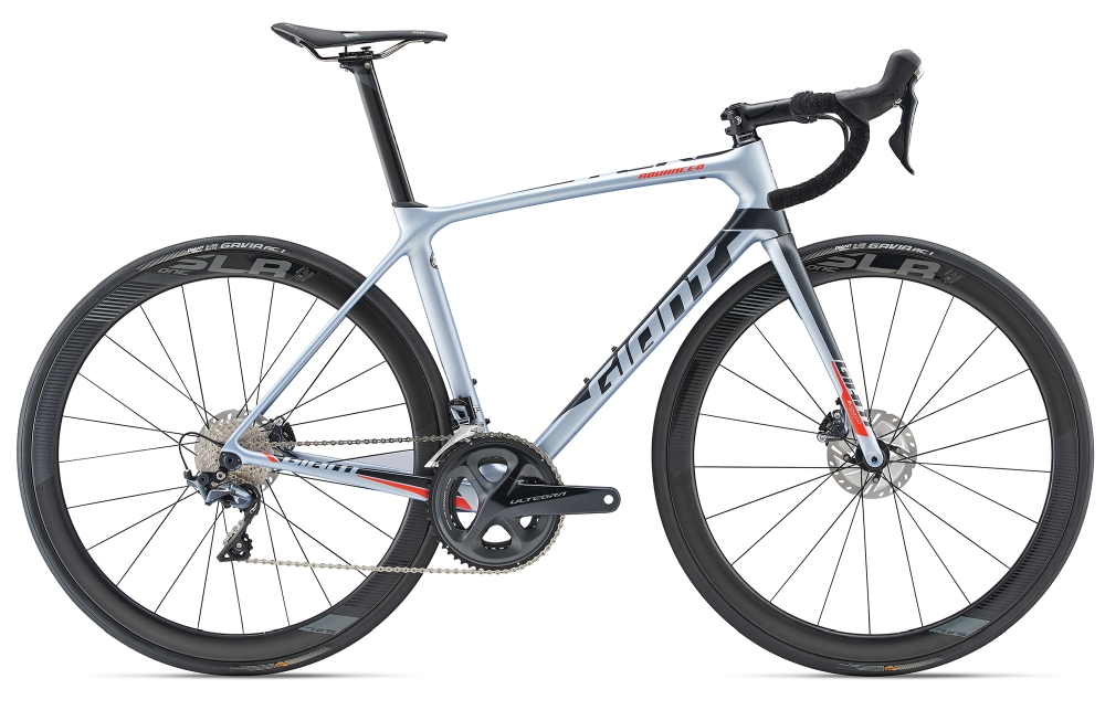 GIANT TCR Advanced Pro 1 Disc L Glaciersilver-Black Matt - Fahrradhaus Haske