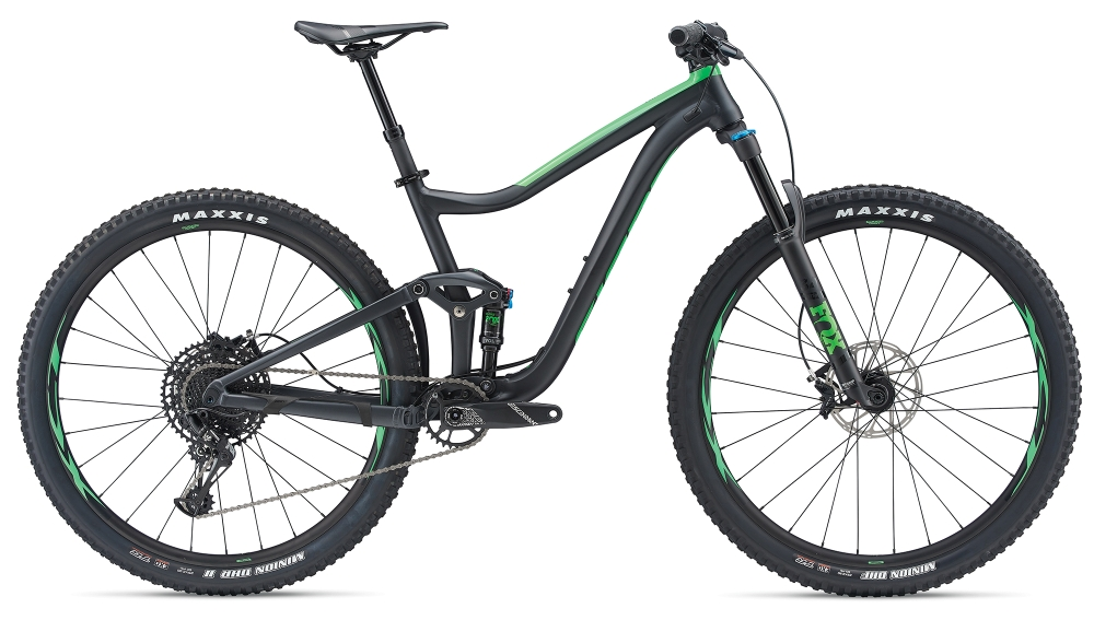 GIANT Trance 2 29er S Metallicblack-Flashgreen Matt-Gloss - Bike Maniac