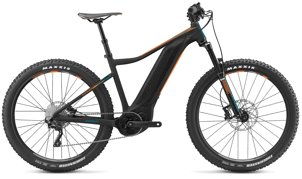 GIANT Fathom E+ 3 Power S Black-Neonorange-Petrolblue Matt - Bike Maniac
