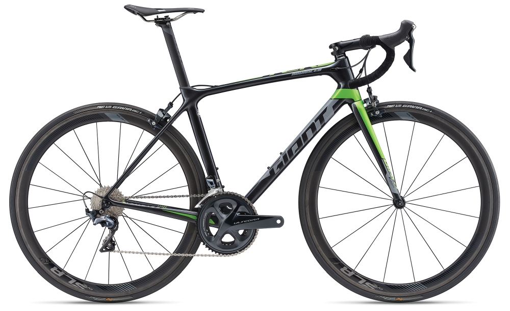 GIANT TCR Advanced Pro 1 ML Gunmetalblack-Green Matt-Gloss - Fahrradhaus Haske