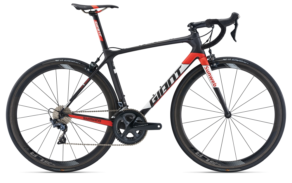 GIANT TCR Advanced Pro Team M Carbonblack-White-Red Matt - Fahrradhaus Haske