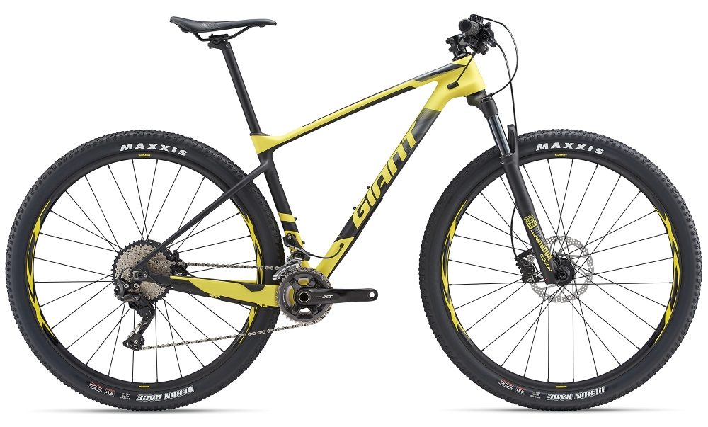 GIANT XTC Advanced 2 L Lemonyellow-Carbonblack Matt - Fahrradhaus Haske