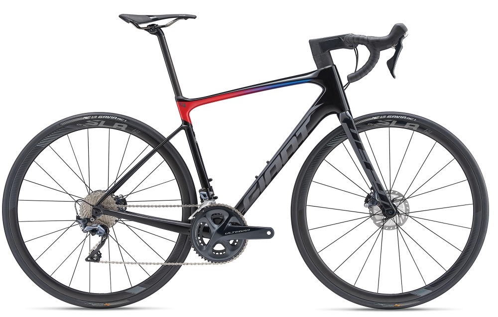 GIANT Defy Advanced Pro 1 S Carbonblack-Red-Blue Matt-Gloss - Bike Maniac
