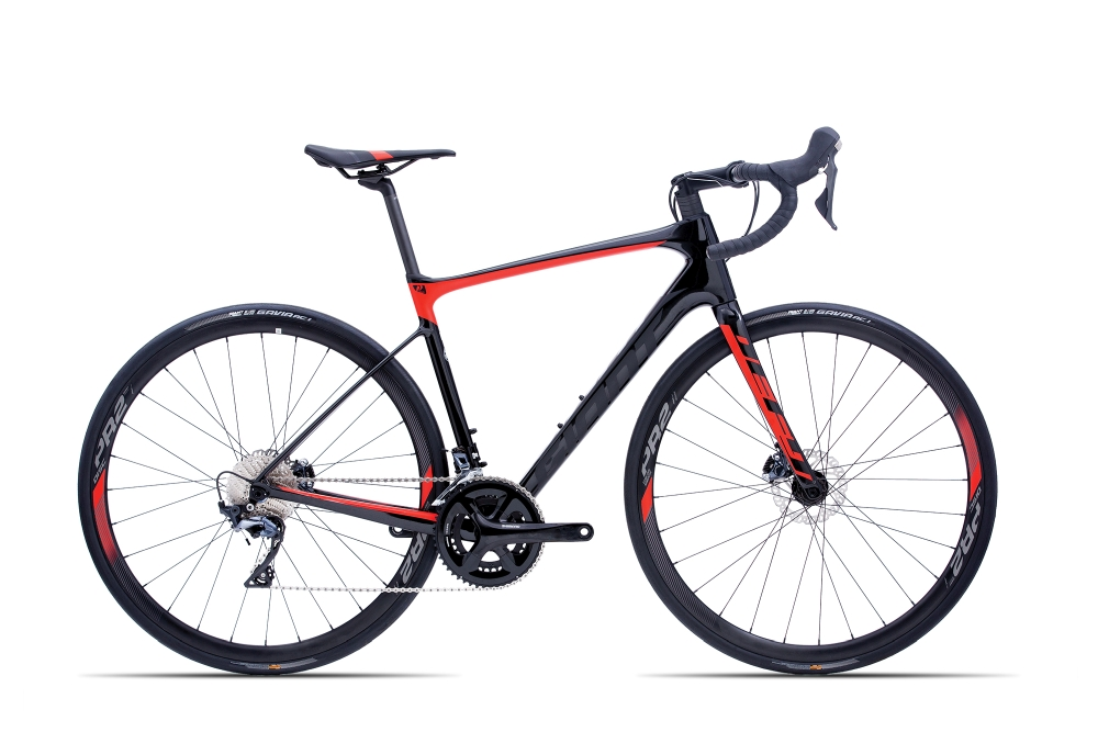 GIANT Defy Advanced 1 L Carbonblack-Red Matt-Gloss - GIANT Defy Advanced 1 L Carbonblack-Red Matt-Gloss