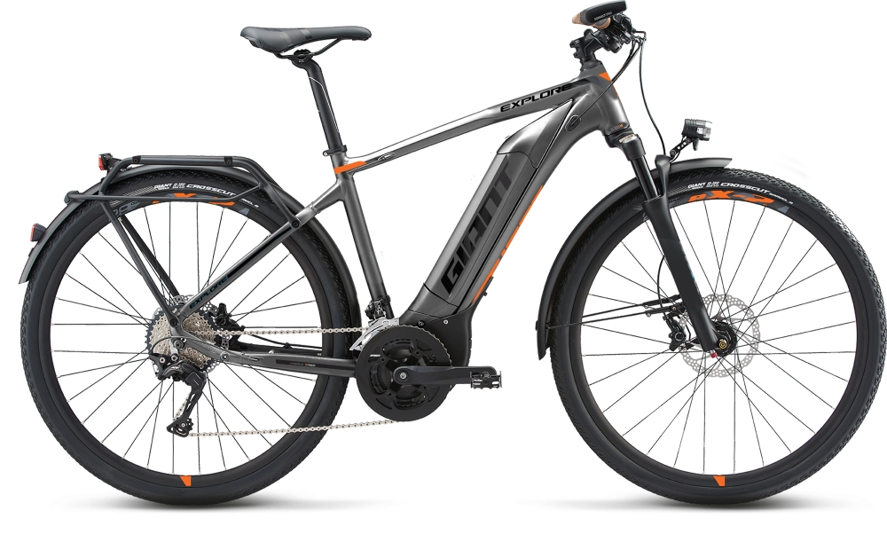 GIANT Explore E+ 0 GTS L Grey-Orange-Black Matt - Fahrradhaus Haske