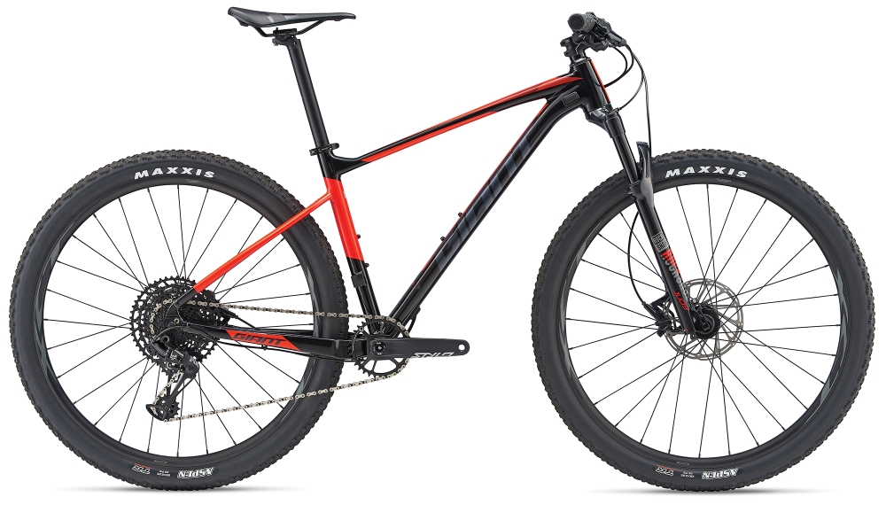 GIANT Fathom 29er S Black-Neonred-Grey - Bike Maniac