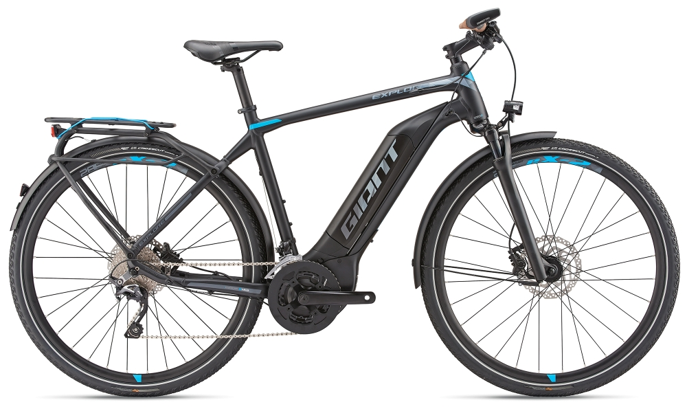 GIANT Explore E+ 1 GTS L Black-Blue-Grey Matt - Fahrradhaus Haske