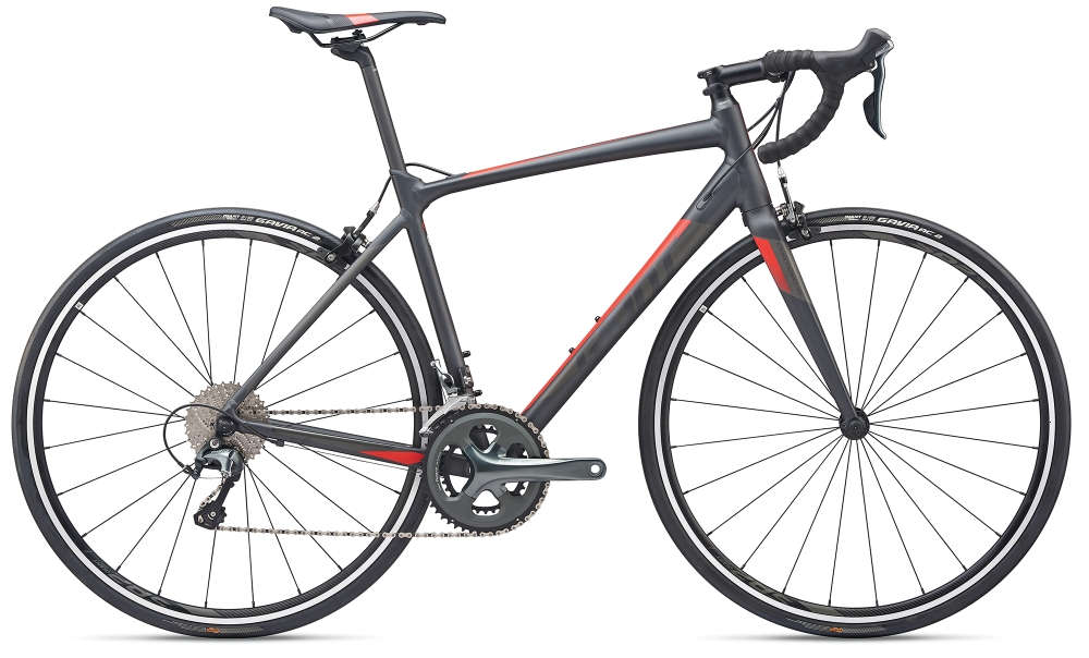 GIANT Contend SL 2 ML Gunmetalblack-Grey-Red Matt - Fahrradhaus Haske