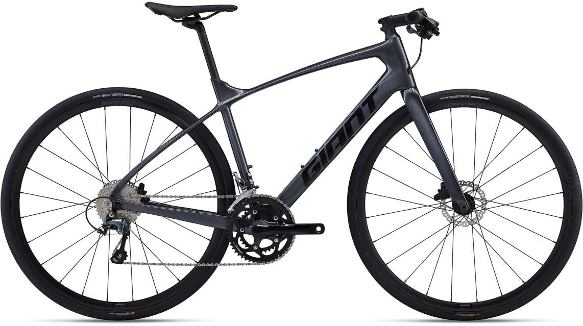GIANT FastRoad Advanced 2 L Carbonblack-White-Red - Fahrradhaus Haske