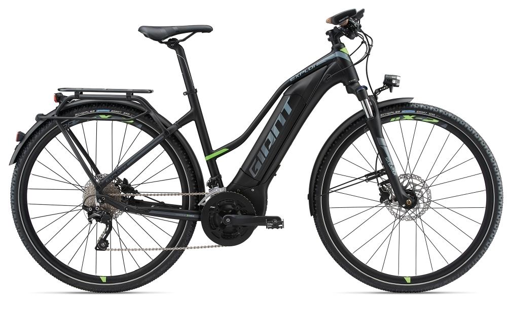 GIANT Explore E+ 1 S5 STA 25km/h M Black/Green M - Fahrradhaus Haske