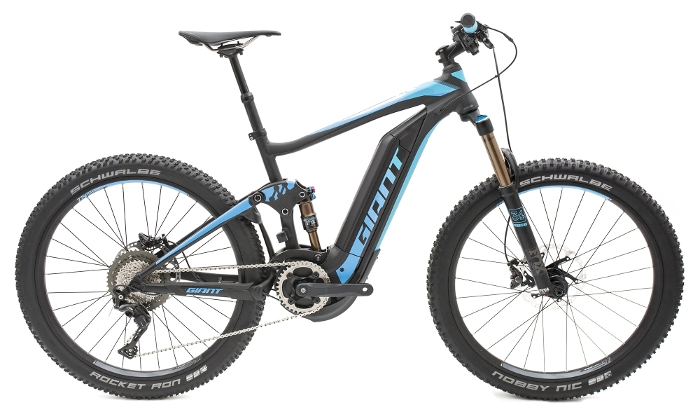 GIANT Full-E+ 0 Pro 25km/h S Black/Electric Blue S - Fahrradhaus Haske