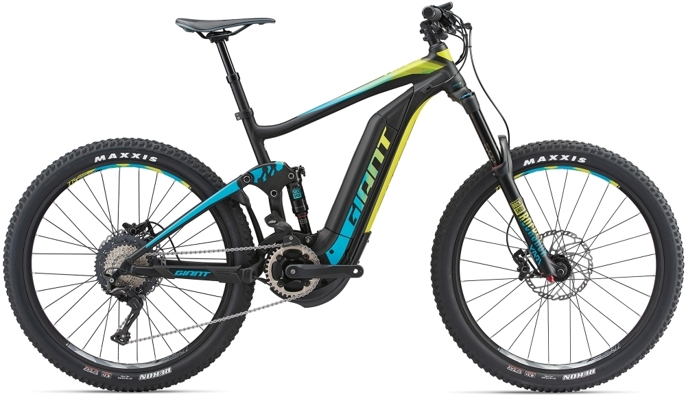 GIANT Full-E+ 1 SX Pro 25km/h L Black/Teal/Yellow L - Bergmann Bike & Outdoor