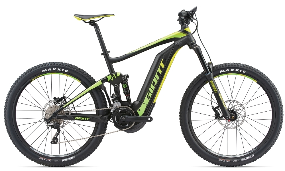 GIANT Full-E+ 2 S5 25km/h M Black/Green/Lemon M - Bergmann Bike & Outdoor