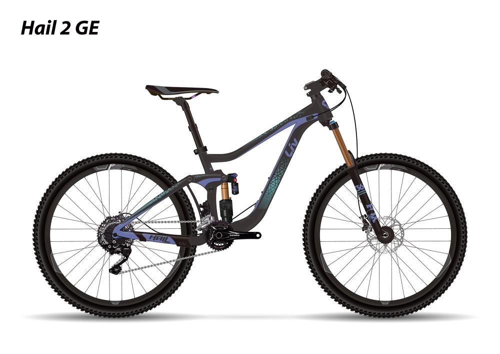 LIV Hail 2 GE Charcoal/Purple/Teal XS - Bergmann Bike & Outdoor