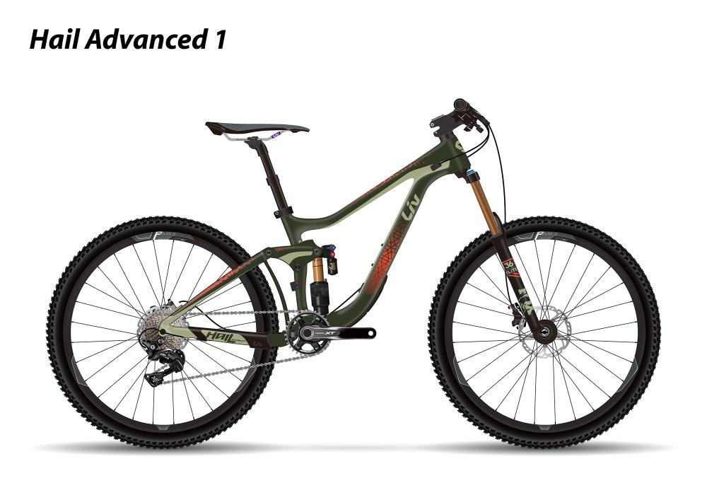 LIV Hail Advanced 1 Dark Green/Olive/Red XS - Bergmann Bike & Outdoor