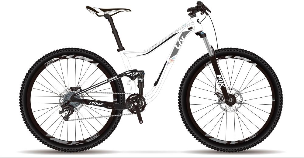 LIV Pique 2 GE XS White XS - Bike Maniac