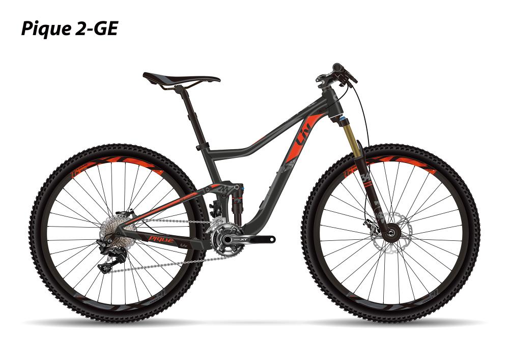 LIV Pique 2 GE Black/Red XS - Bergmann Bike & Outdoor
