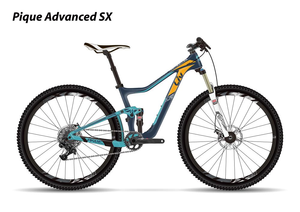 LIV Pique Advanced SX Dark Blue/Blue/Yellow XS - Bergmann Bike & Outdoor